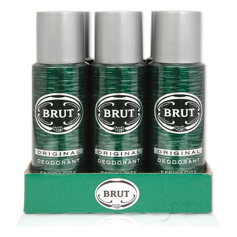 6 x Brut Original 200 ml Deodorant Spray